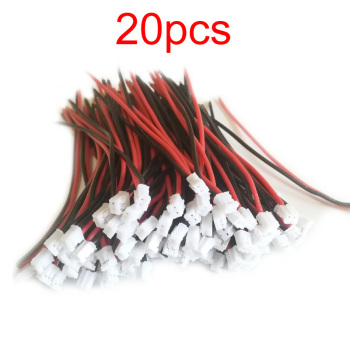 20 piezas PH2.0 cable de SILICONA 24AGW Cable de conexión macho-hembra para drones RC 1