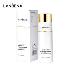 LANBENA 24k Gold Peptide Toner Face Serum Anti Aging Untuk Kerut Pelembab Pemutih Kulit Smprove Facial Dullness Skin Care 100ml