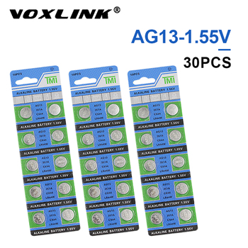 VOXLINK 30Pcs AG13 original brand new battery 1.55v button cell LR44/G13 for Camera watch computer toy remote control battery цена 2017