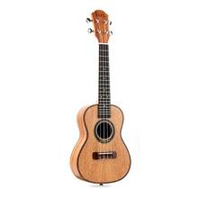 Концертная Гавайская гитара 4 струны гитара из красного дерева 23 дюймов сопрано укулеле Начинающий палисандр гриф мост для музыкального струнные Instru