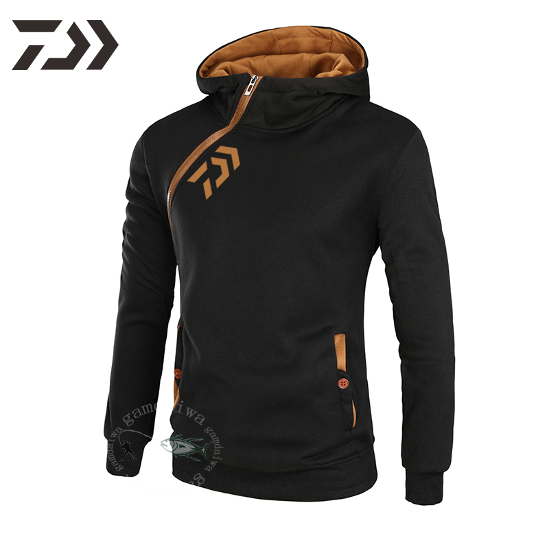 Fishing Hoodies Daiwa Sweatshirt Men Breathable Fishing Shirt Long Sleeve Fishing Clothing Zipper Autumn Winter Casual Outdoor