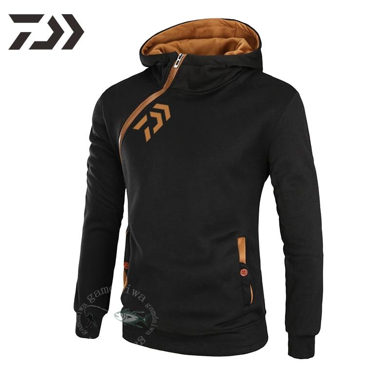 Fishing Hoodies Daiwa Sweatshirt Men Breathable Fishing Shirt Long Sleeve Fishing Clothing Zipper Autumn Winter Casual Outdoor