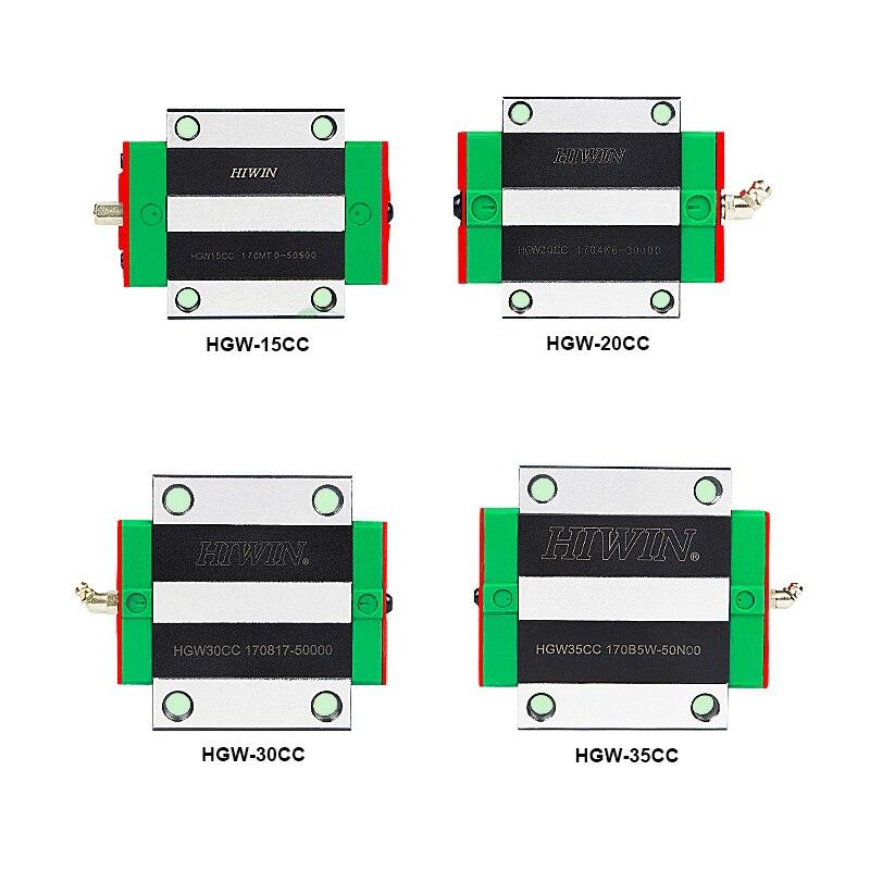 1 шт. HIWIN HGW15CC HGW20CC HGW25CC 100% Оригинал Hiwin линейные блоки направляющие ЧПУ маршрутизатор co2 лазерная машина подшипник каретки