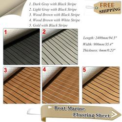 5 Pattern Self-Adhesive EVA Foam Boat Deluxe Marine Boat Flooring Sheet Faux Teak Yacht Foam Boat Decking Mat Accessories Marine