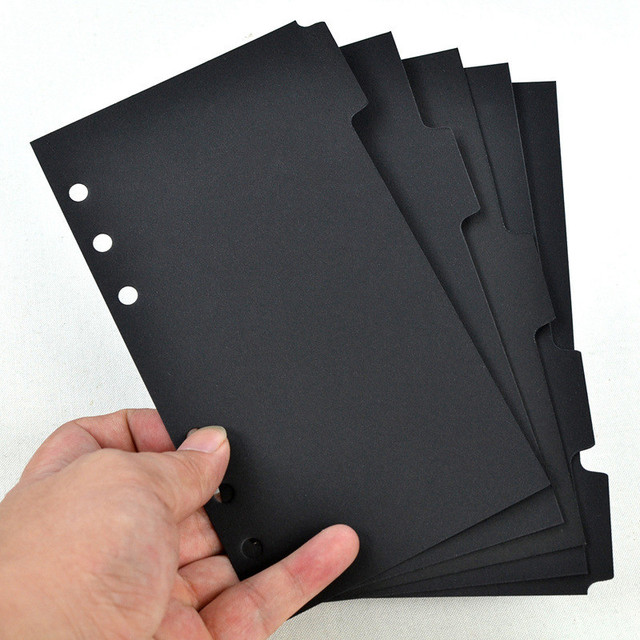 6 Holes A5/A6 Notebooks Tabbed Paper 5pcs/set Writing Pads Scrapbook Index Tabs Planner Divider Pages