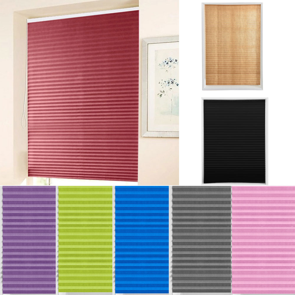 Self-Adhesive Pleated Blinds Blinds Curtains Living Room Half Blackout Window Curtains For Bathroom Balcony Shades