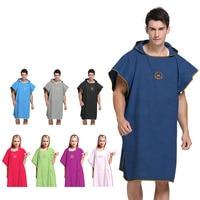 Fashion Quick drying Changing Robe Bath Towel Outdoor Adult Hooded Beach Towel Poncho Bathrobe Towels Woman Men Swimming Cloak