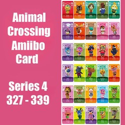 Serie 4 (327-339) animal Crossing Kaart Amiibo Kaart Sloten Nfc Kaart Werken Voor Schakelaar Ns 3DS Games Animal Crossing Amiibo Kaart
