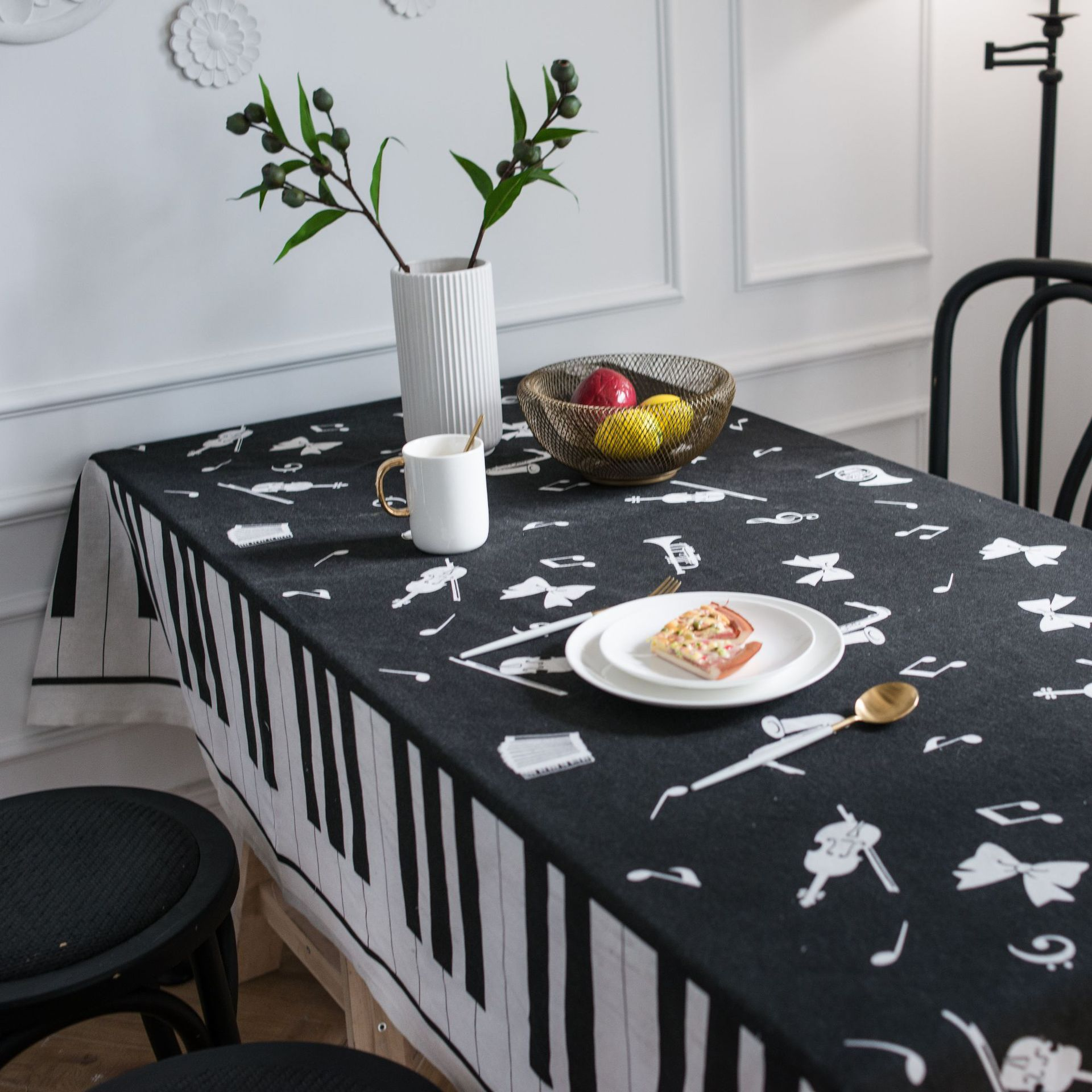 Piano Printed Decorative Tablecloth Rectangular Tablecloths Dining Table Cover Home Kitchen Obrus Nappe Mantel Mesa Tafelkleed image