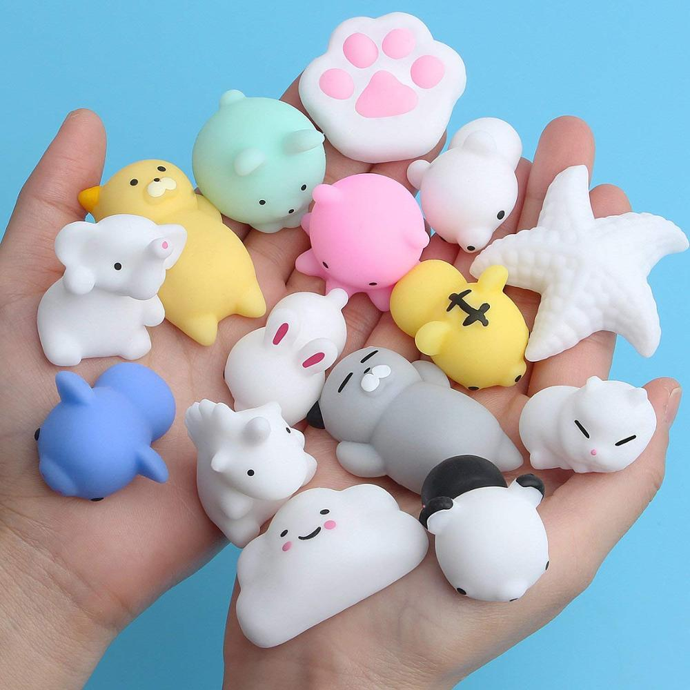 2pcs Squishy Animal Kids Toy Squeeze Antistress Abreact Ball Soft Sticky Cute Funny Gift Slow Rising Squishy Toys for Children