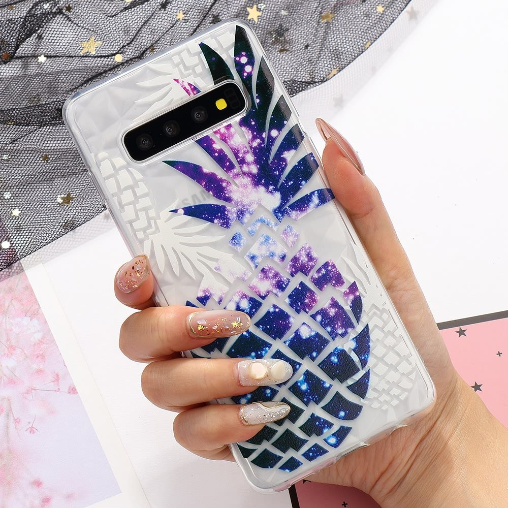Transparent Pinapple Pressed Silicone Case For Samsung Galaxy S9 Plus S8 S10 S10e Soft Cover For Samsung A10 A20 A30 A40 A50 A70