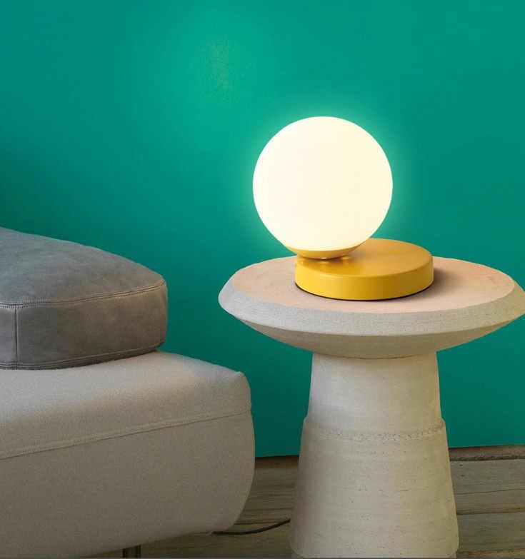 Europa led szkło kolorowe szklane kulki lampa turecka lampada comodino jadalnia salon dla łóżko sypialniane lampa abajur de mesa