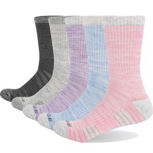 Image 1 - YUEDGE Marke frauen Bunte Baumwolle Kissen Atmungsaktivem Casual Sport Runing Wandern Crew Kleid Socken (5 Paare/paket)