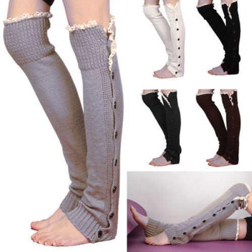 1 Pair Vrouwen Haak Boot Manchetten Knit Toppers Boot Sokken Winter Beenwarmers Calcetines Mujer nieuwe 2019