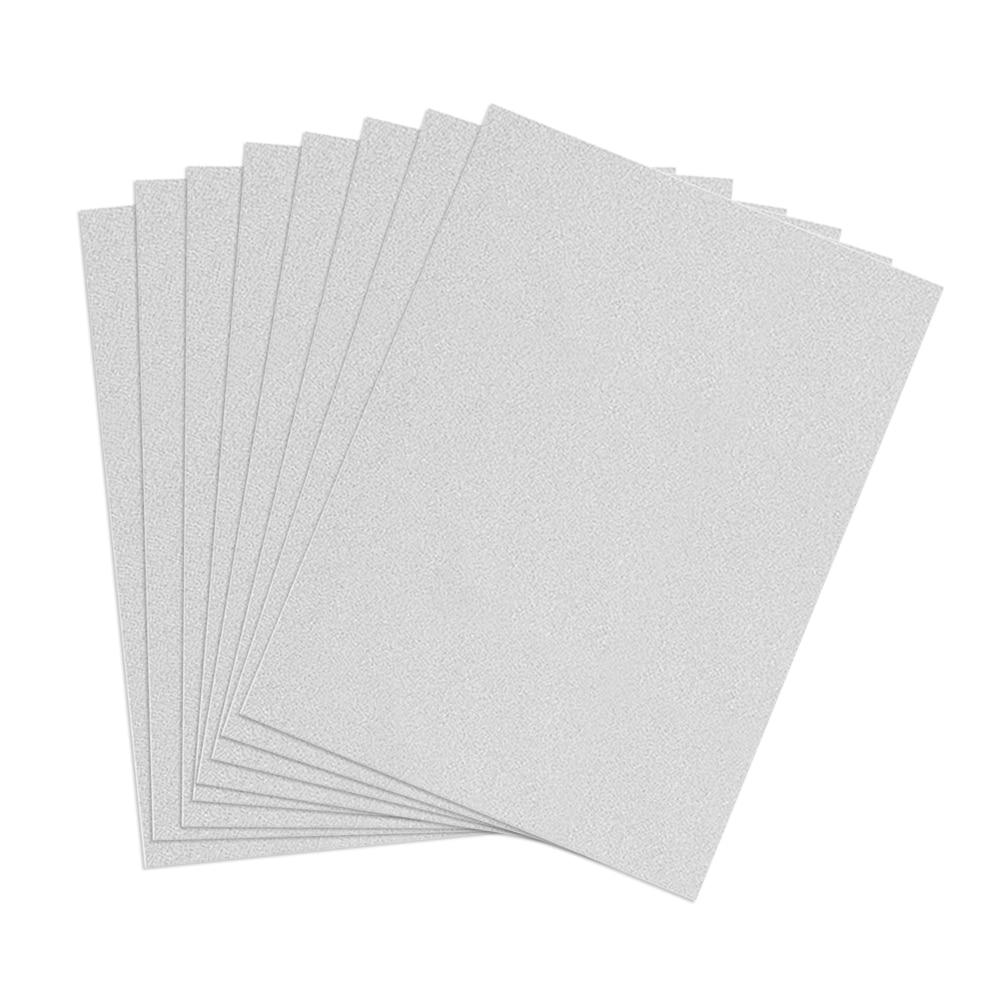 10pcs/set A4 Decorating Kindergarten Self Adhesive Thick Powder Kids Glitter Sheets DIY Crafts Manual Gift Bright Embossed Paper
