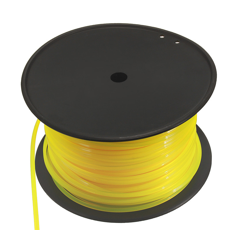 100m 3mm Yellow Square Wire Cord Nylon For STIHL Strimmer Trimmer Head Mower Universal Strimmer Square Wire