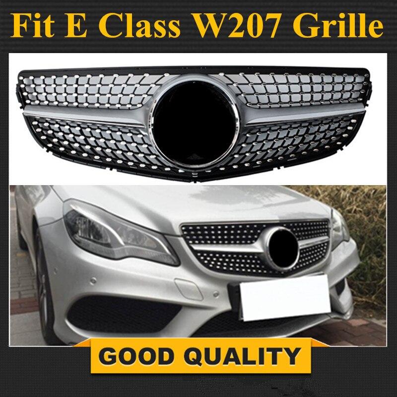 W207 подтяжки лица бриллиантами гриль передний бампер решетка для Mercedes E Class 2 двери купе Кабриолет 2014 2017 E250 E300 E350 E550