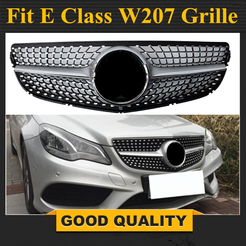 W207 Facelift Diamonds Grill Front Bumper Grille for <font><b>Mercedes</b></font> E Class 2-door <font><b>Coupe</b></font> Cabriolet 2014 - 2017 E250 <font><b>E300</b></font> E350 E550 image