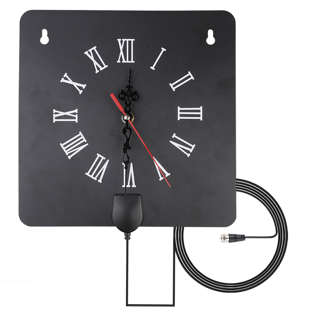 300 Miles Indoor Digital TV Antenna HDTV Antenna With Alarm Clock With Signal Amplifier Free Tower Reception Amplifier