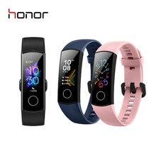 """כבוד להקת 5 חכם צמיד לשחות שבץ לזהות קצב לב Oximeter שינה תנומה smartwatch 0.95 """"AMOLED צבע מסך"""