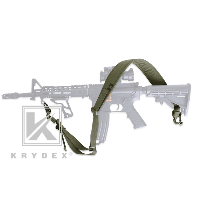 KRYDEX Modular Rifle Sling Strap Removable Tactical 2 Point / 1 Point 2.25 3