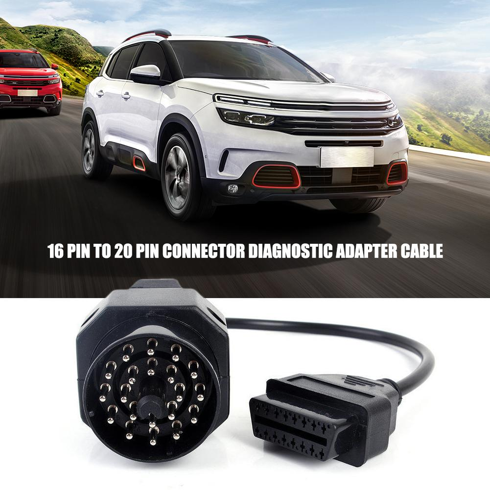 OBD2 16 <font><b>Pin</b></font> To <font><b>20</b></font> <font><b>Pin</b></font> Connector Diagnostic Adapter Cable For <font><b>BMW</b></font> E36 E46 E38 E39 E53 X5 Z3 Car Accessories image