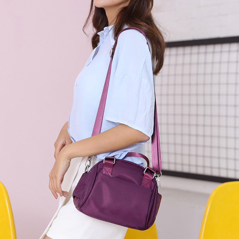 Female Handbag Famous Brand Big Solid Zipper Oxford Crossbody Bags Designer Bags For Luxury Handbags Women Pink Casual Bag Bolsa in Top Handle Bags from Luggage Bags