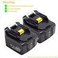 Doscing для Makita BL1430B 14 4 в 6000 мАч литий-ионная аккумуляторная батарея с светодиодный Сменный аккумулятор для электроинструментов BL1430 BL1415