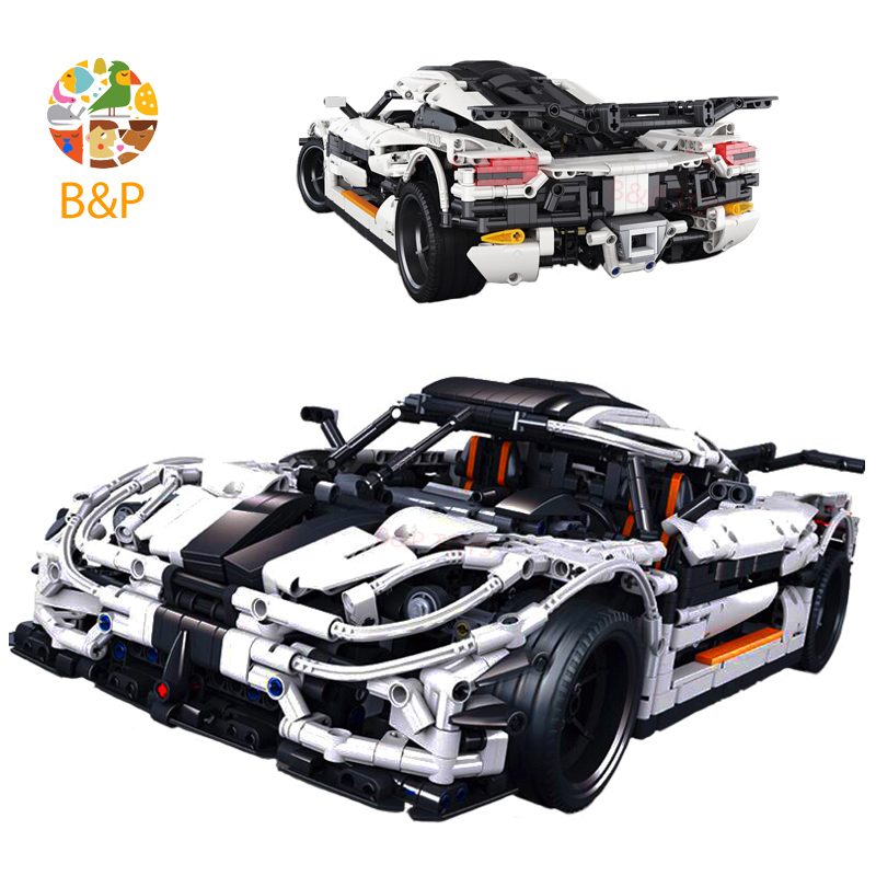 <font><b>23002</b></font> 3136Pcs Technic series Super sports car Model Building blocks Bricks Classic Compatible with Christmas birthday Gift image