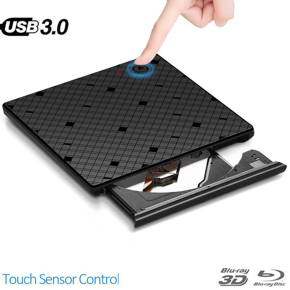 Bluray Burner Writer BD-RW <font><b>USB</b></font> <font><b>3.0</b></font> External <font><b>DVD</b></font> <font><b>Drive</b></font> Portatil Blu ray Player CD/<font><b>DVD</b></font> RW Optical <font><b>Drive</b></font> for hp Laptops PC Notebook image