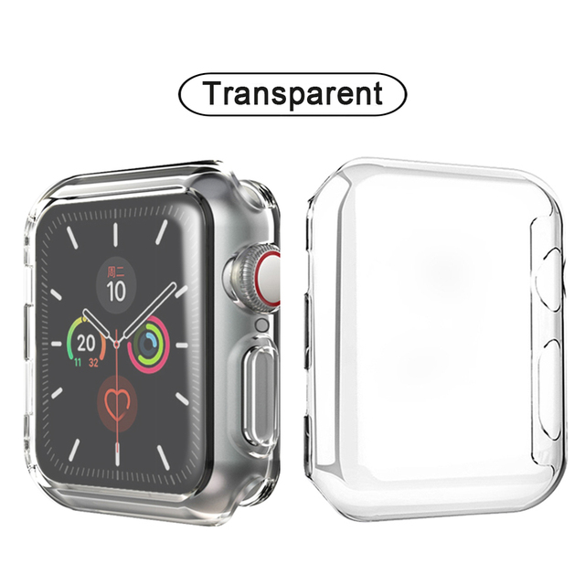 Slim Watch Cover for Apple Watch Case 5 4 3 2 1 42mm 38mm Soft Clear TPU Screen Protector for iWatch 4 3 44mm 40mm accessories | Fotoflaco.net