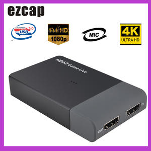 Ezcap Video-Converter Support Game Live-Streaming Xbox-One 261M PS4 1080P MIC HD 4K USB