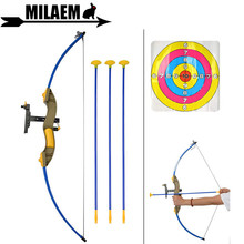 Archery Recurve Bow And Arrow Set Soft Plastic Sucker Target Paper Sport Toys Games For Kids Gift Shooting Accessories