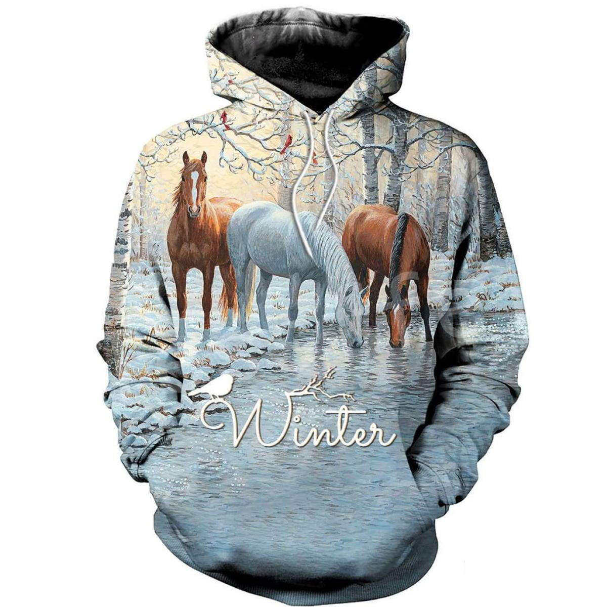Tessffel Animal Horse Art Unisex Colorful Casual Tracksuit Harajuku 3Dfull Print Hoodie/Sweatshirt/Jacket/Mens Womens S-8