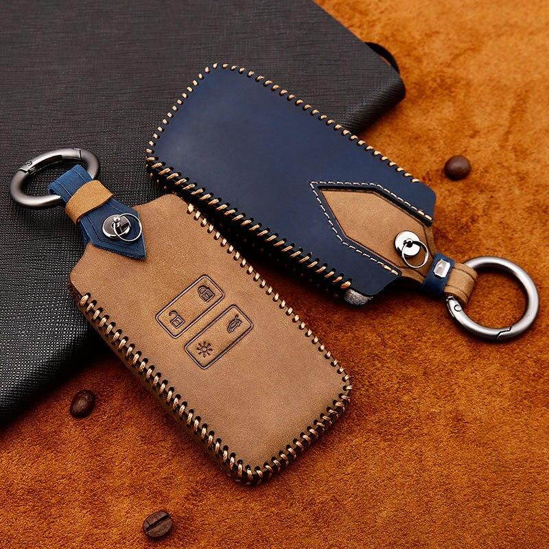 Чехол для автомобильного ключа из натуральной кожи, чехол для ключа для Renault Fluence Duster Megane Kadjar Clio, Стайлинг автомобиля