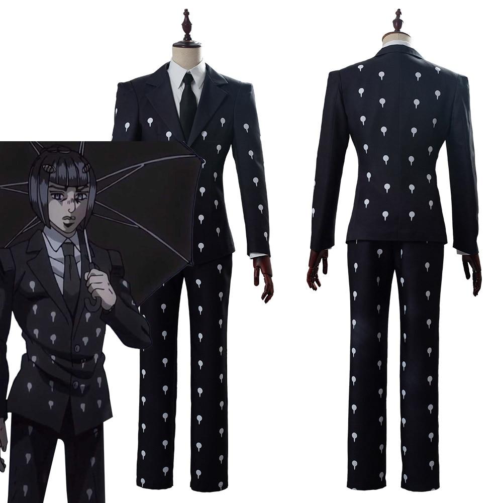 JoJo's Bizarre Adventure Golden Wind Bruno Bucciarati Cosplay Costume Slim Fit Funeral Suit Halloween Carnival