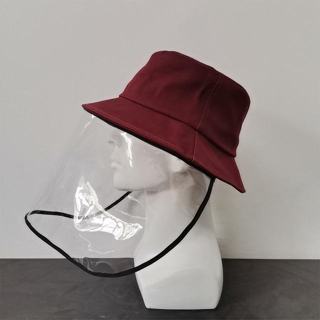 Virus Protective Face Shield Mask Cover Hat Anti Spitting Saliva Drool Fisherman Cap Clear Facial Mask Splash Anti-Fog Anti-Oil 3