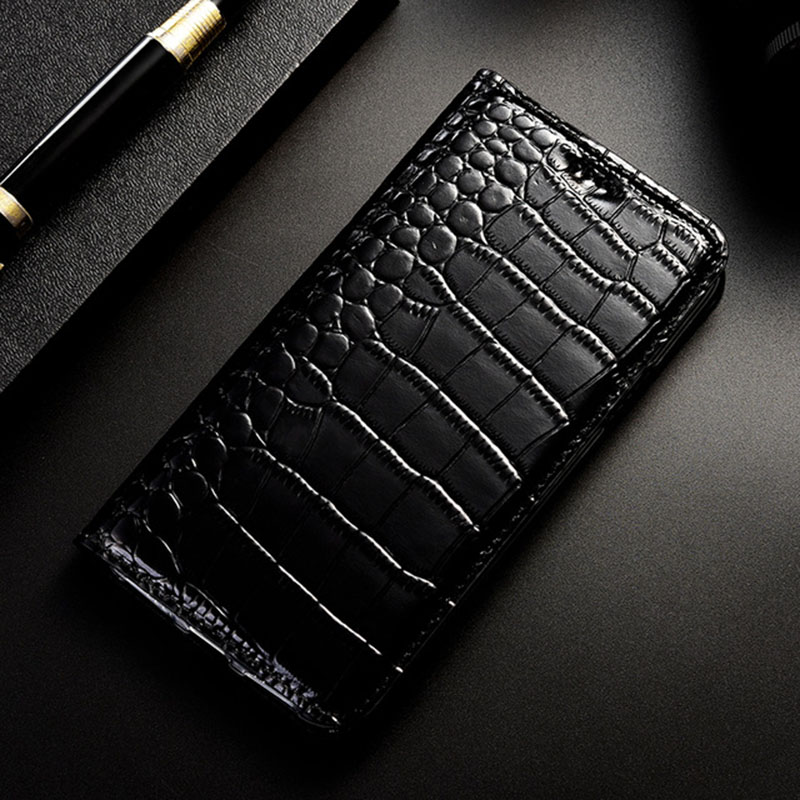 Image 2 - Magnet Natural Genuine Leather Skin Flip Wallet Book Phone Case Cover On For Huawei P20 P30 Lite Pro P 20 30 Light 64/128/256 GBFlip Cases   -