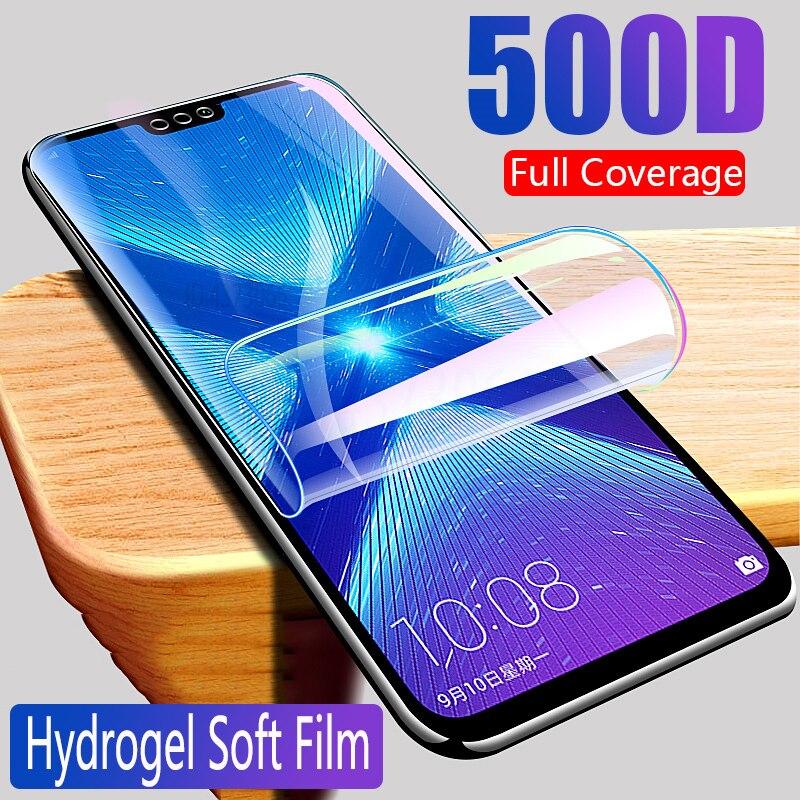 Película de hidrogel para huawei honor 7a 7c 7x 7s protetor de tela honra 8x 9x 8s 8a 8c 20s v30 película protetora de segurança não vidro