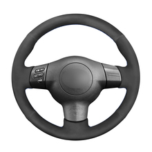 Black Synthetic Suede Steering Wheel Cover for Toyota Corolla RAV4 Caldina Wish Scion tC xA xB 2003 2004 2005 2006-2008 2009