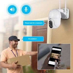 Image 3 - FUERS 1080P kamera zewnętrzna kamera PTZ IP bezpieczeństwo CCTV 4X Zoom kamera monitorująca WIFI P2P chmura noktowizor wykrywanie ruchu