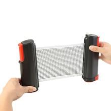 Practical Portable Retractable Table Tennis Mesh Net Multi-functional Durable Convenient Ping Pong Net Rack Sports Equipment