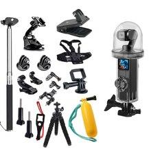 Conjunto de acessórios para câmera de dji osmo, tripé à prova dágua 20 em 1