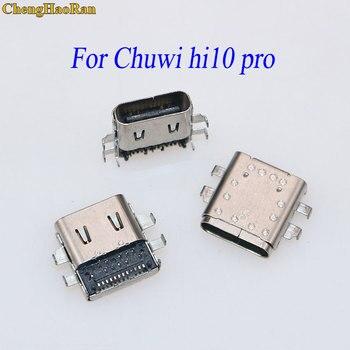 ChengHaoRan para Chuwi hi10 pro hembra micro usb jack tipo c typc-c usb c conector de enchufe de carga prot