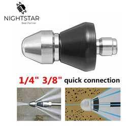 Limpiador de drenaje de la boquilla de dragado del tubo de alcantarillado de la lavadora de presión rápida de 3/8