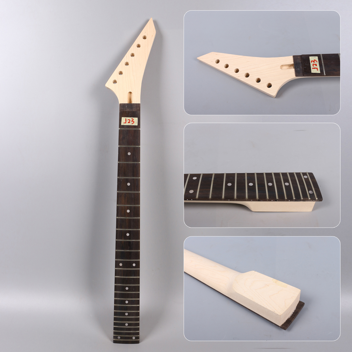 <font><b>24</b></font> <font><b>fret</b></font> 25,5 zoll Elektrische Gitarre <font><b>Neck</b></font> locking mutter ahorn + Palisander griffbrett Unfinished image