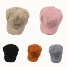 Женский берет сезон осень зима восьмиугольная шапка зимние шерстяные