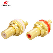 8Pcs Gold RCA Jack HIFI Terminals pom isolierung Hohe-ende RCA Buchse Adapter AV Terminal Phono Stecker(China)