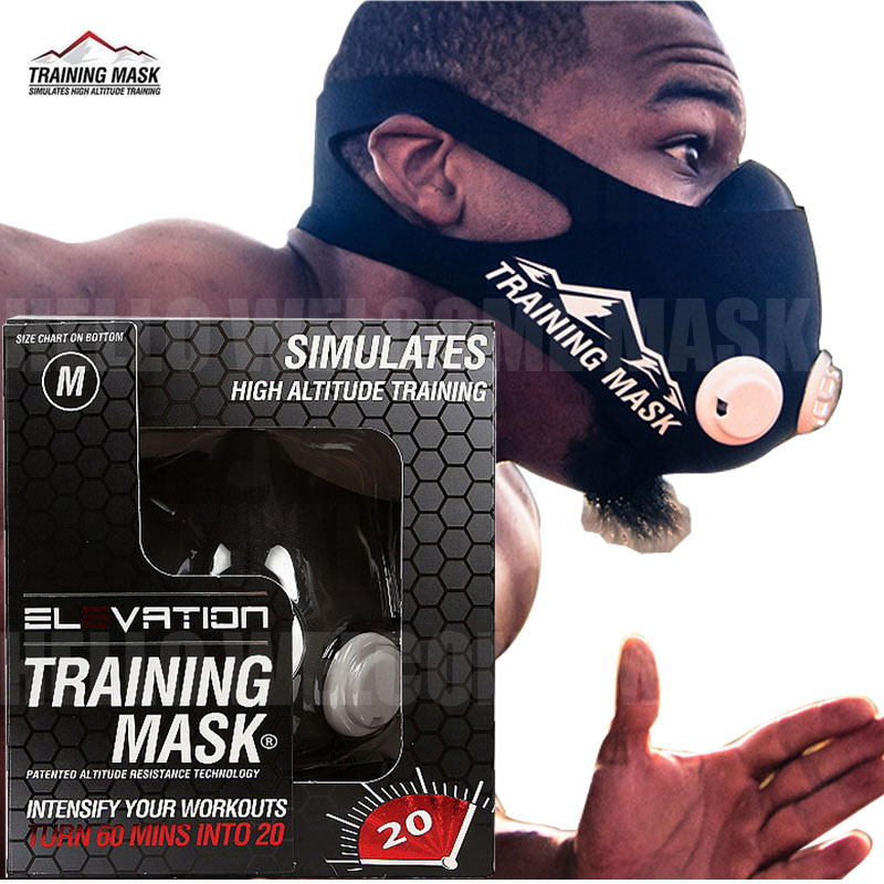 JAISATI Sports Running Mask Training Fitness Gym Workout Cycling Elevation High Altitude Training Conditioning Sport Masks 3.0