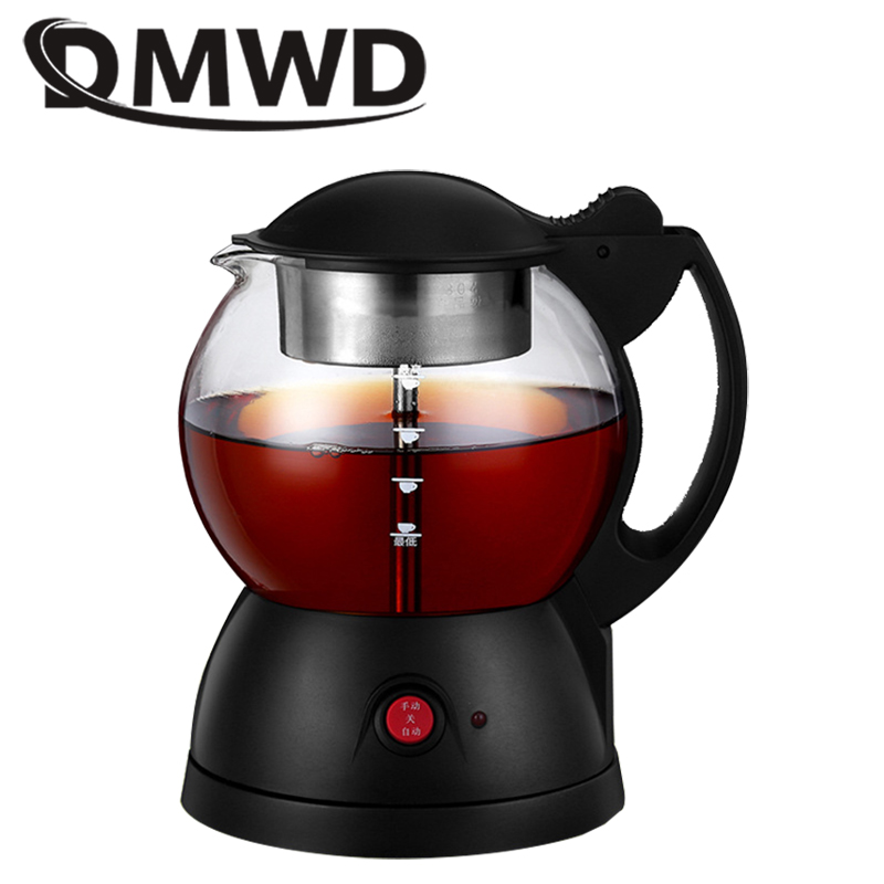 DMWD Electric Kettle Hot Water Heating Boiler Stove Health Glass Teapot Coffee Cooker Milk Heater Pot Boiled Tea Warmer EU US UK